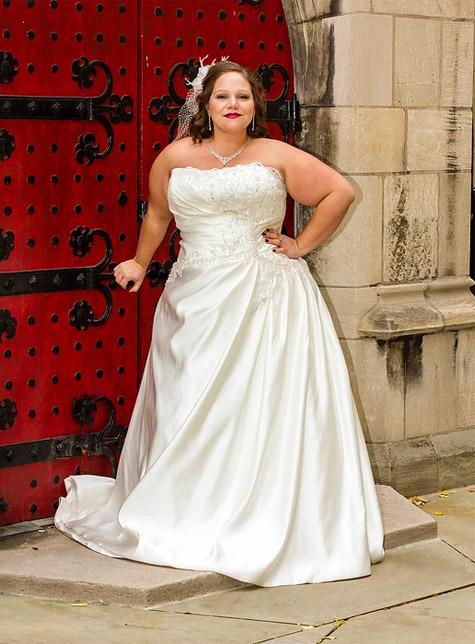 Satin Dress With Beading Koda Bridal Plus Size Pittsburgh Pa