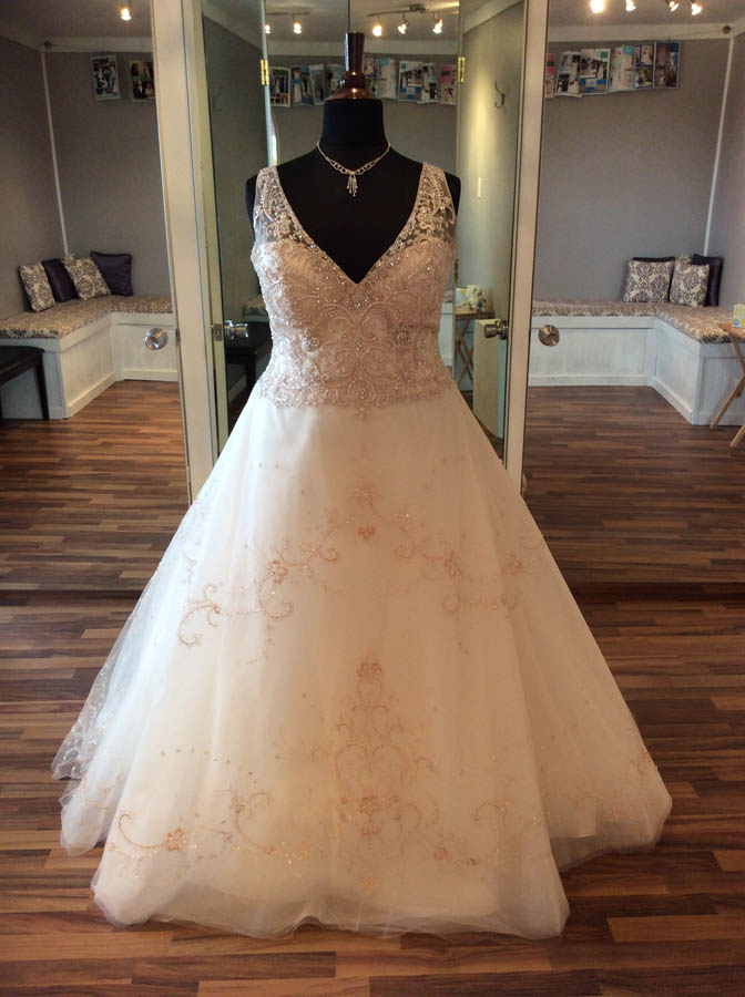 Fully beaded ball gown – Koda Bridal | Plus-size Bridal | Pittsburgh PA