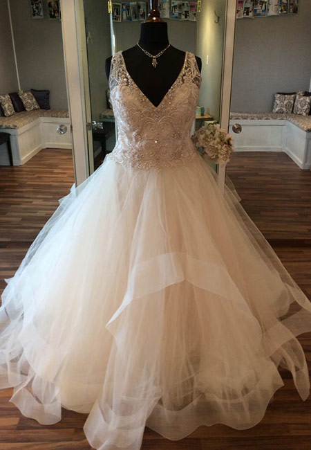 Beaded Top Ball Gown