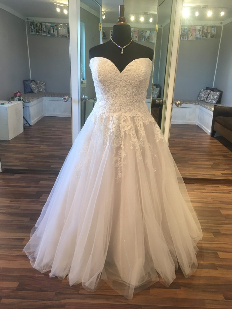 Lace and beaded ball gown
